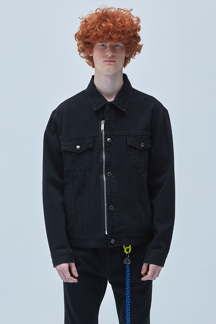 ZIPPER DENIM JACKET[BLACK]